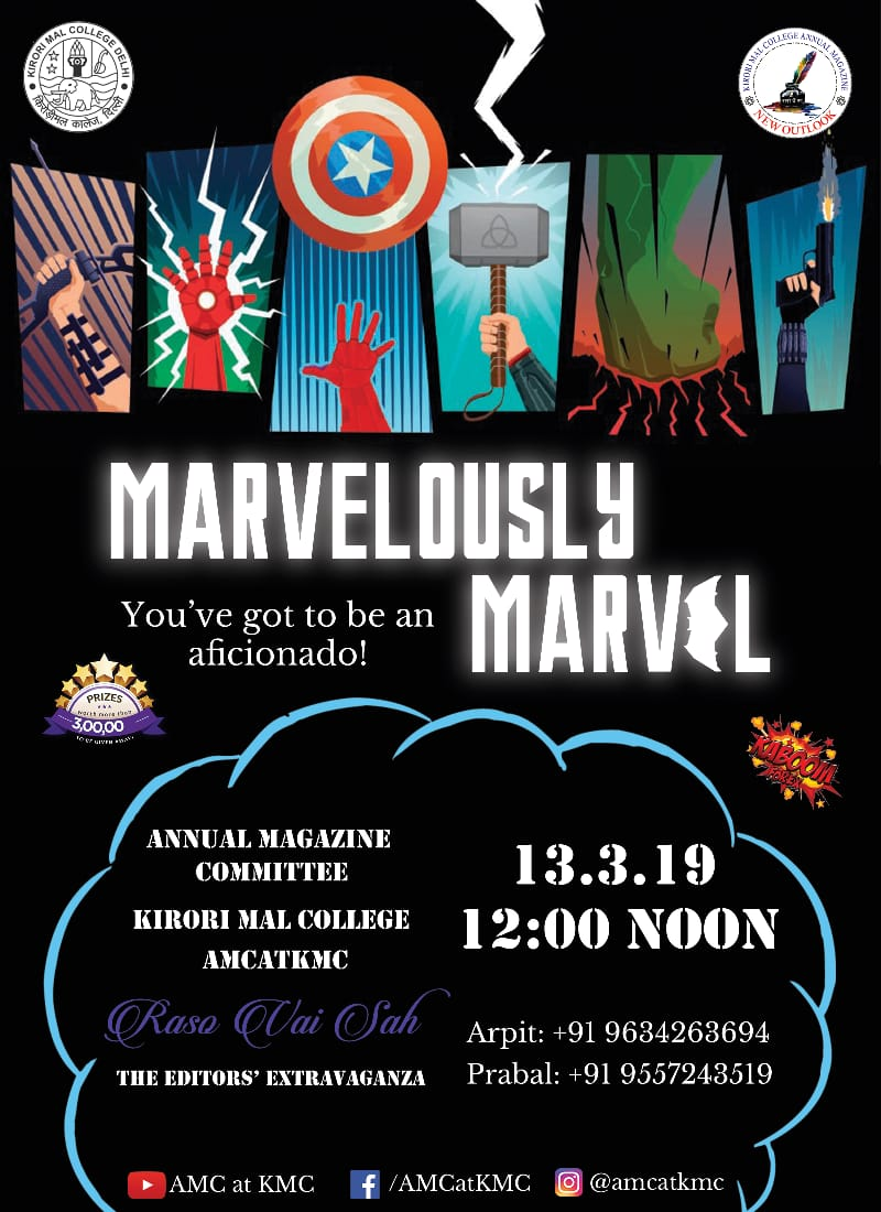 Interesting Competition for Marvel Fans by Annual Magazine Committee at Kirori Mal College