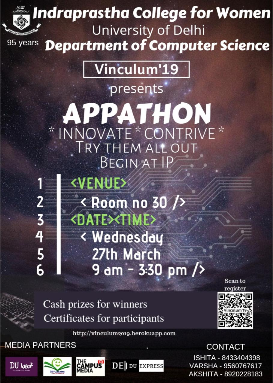Appathon- App Building Competition by Indraprastha College For women