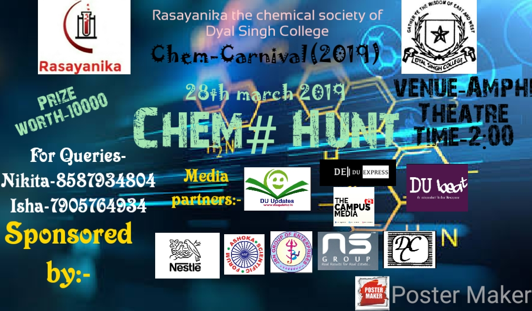 A treasure hunt with chemistry twist at Chem-Carnival 2019, Dyal Singh College
