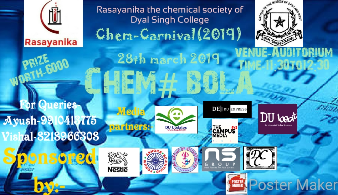It's time to play Chemical Tambola at Chem-Carnival 2019, Dyal Singh College