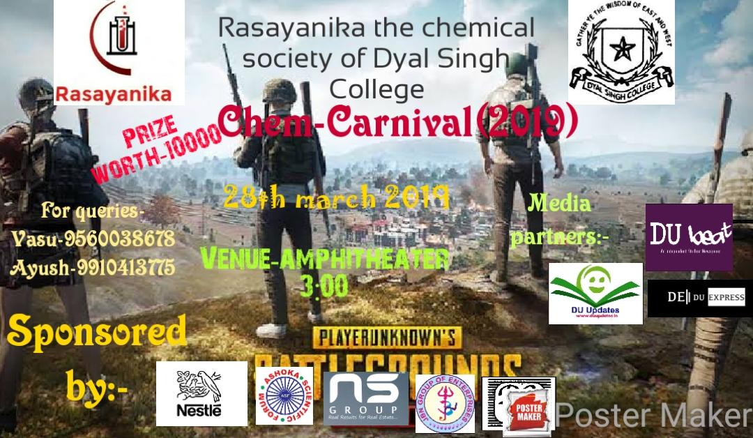 PUBG Headshot at Chem-Carnival 2019, Dyal Singh College