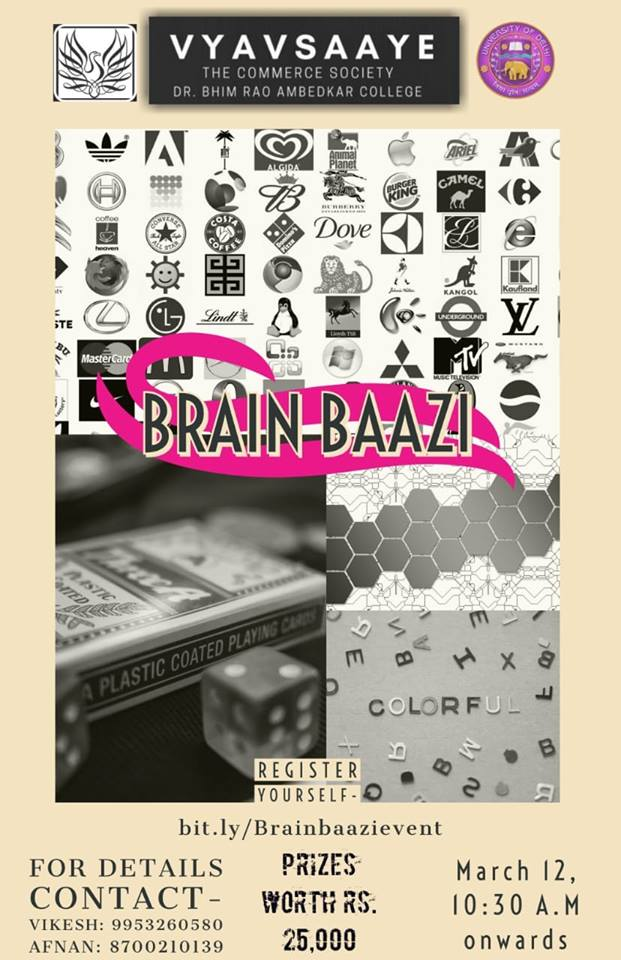 Brain Baazi Competition at Commcoterie 2019 by Vyavsaaye