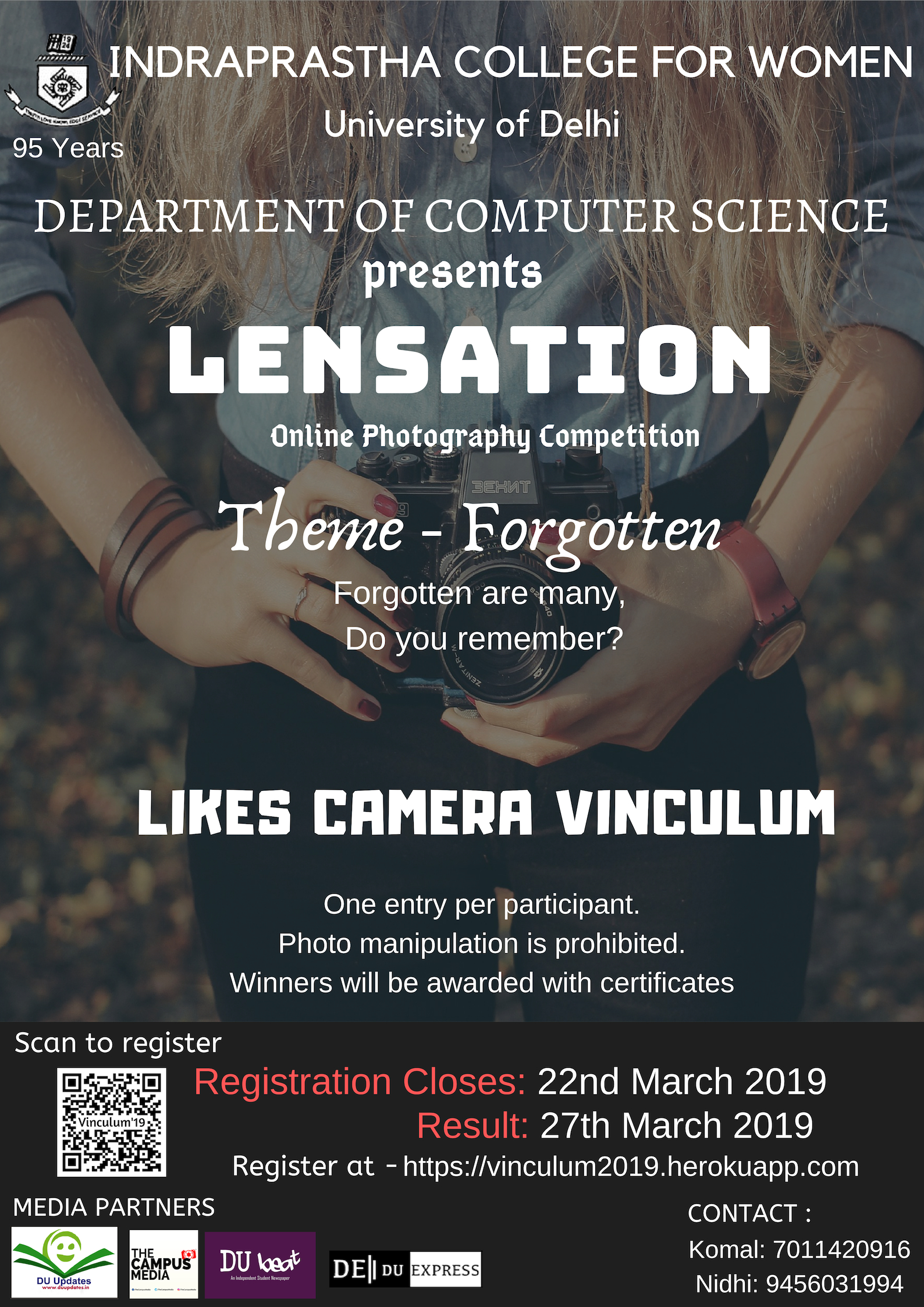 Lensation- The online photography competition by Indraprastha College for Women
